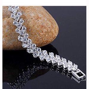 Silver Plated CZ Crystal Bracelet